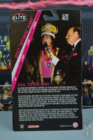 wwe bret hart king of the ring 1993 figure review - package rear