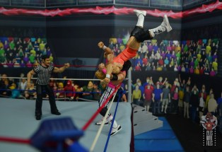 wwe bret hart king of the ring 1993 figure review - suplexing mr. perfect to the outside