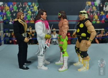 wwe elite macho king figure review - facing ted dibiase, brutus beefcake and dusty rhodes