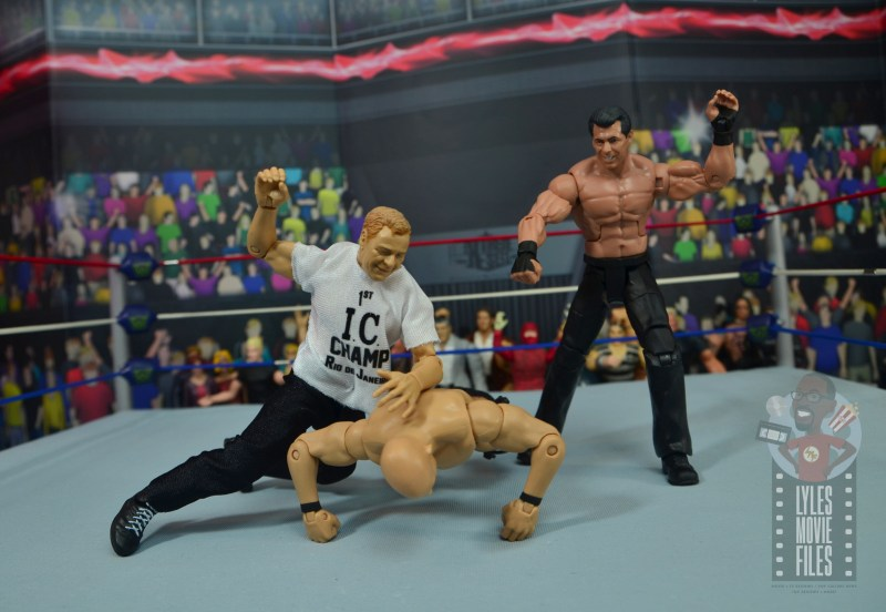 wwe elite pat patterson figure review - beating up on stone cold steve austin with vince mcmahon