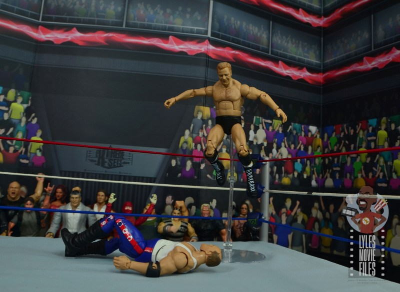wwe elite pat patterson figure review - big knee from the ropes