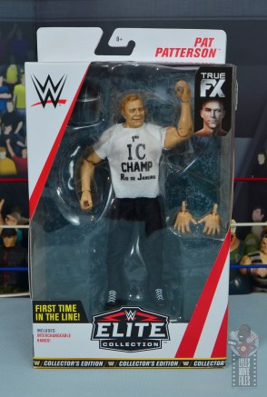 wwe elite pat patterson figure review - package front