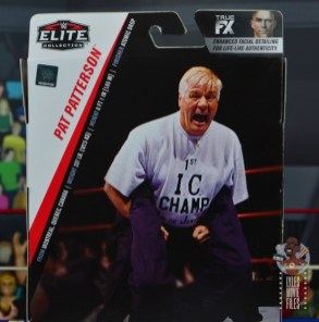 wwe elite pat patterson figure review - package stats