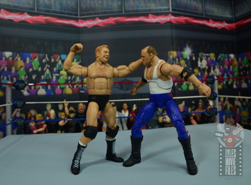 wwe elite pat patterson figure review - punching sgt slaughter