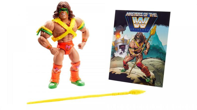 wwe masters of the universe ultimate warrior - accessories and mini-comic
