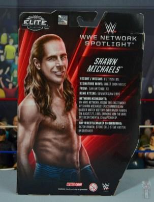 wwe network spotlight shawn michaels figure review - package rear