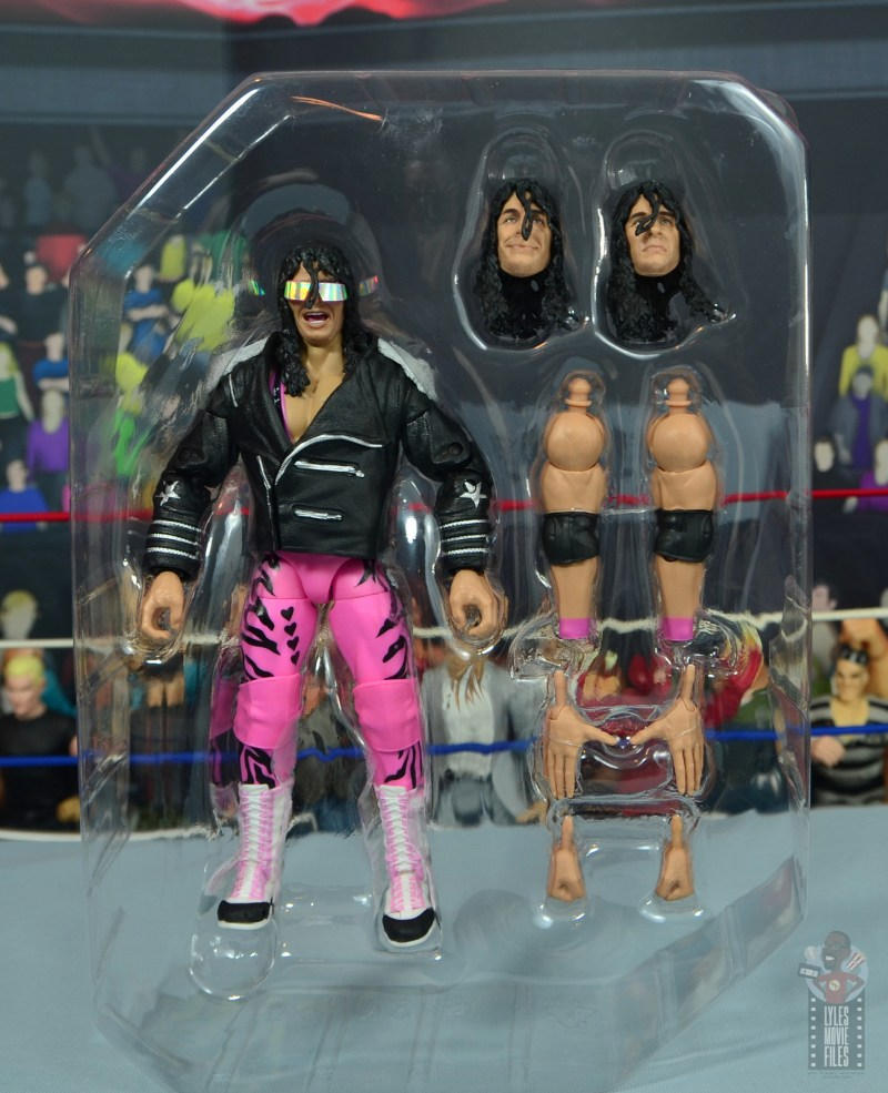wwe ultimate edition bret hitman hart figure review - inner tray