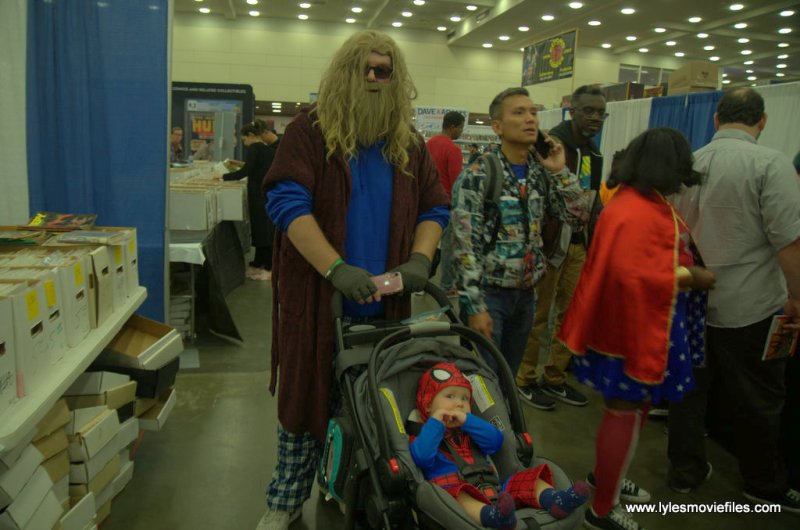 Baltimore Comic Con 2019 cosplay - bro thor babysitting