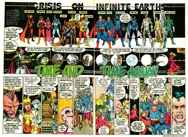 crisis on infinite earths #2 - assembled heroes and villains