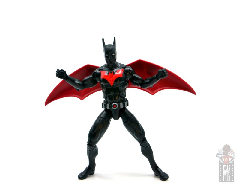 dc multiverse batman beyond figure review -arms and wings out