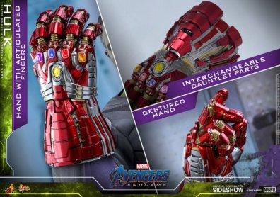 hot toys avengers endgame hulk figure -nano gauntlet collage