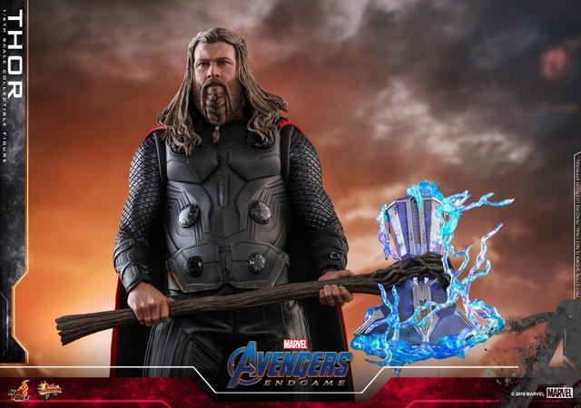 hot toys avengers endgame thor figure - carrying stormbreaker