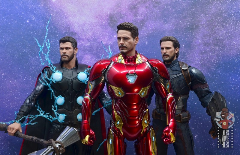 hot toys avengers infinity war iron man figure review - avengers big three
