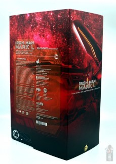 hot toys avengers infinity war iron man figure review - package rear