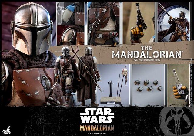 hot toys the mandalorian figure - collage