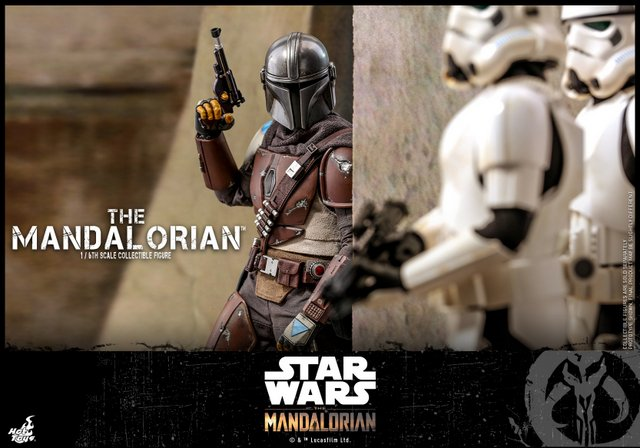 hot toys the mandalorian figure - sneaking up on stormtroopers