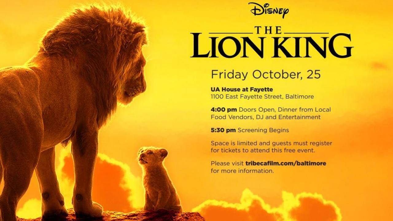 Attend A Free Screening Of The Lion King This Weekend Lyles Movie Files