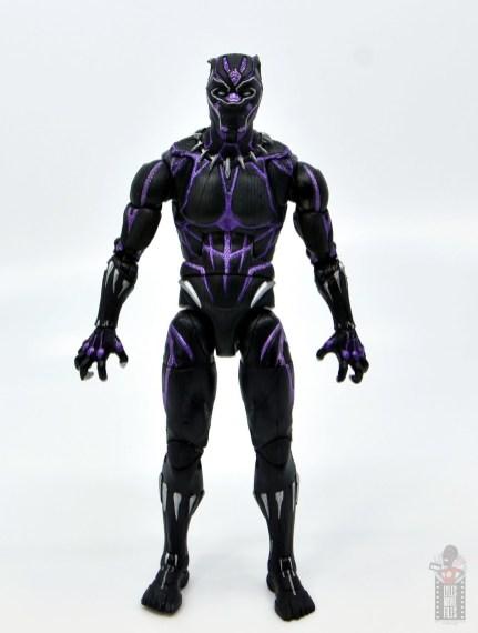 marvel legends black panther vibranium effect figure review - front