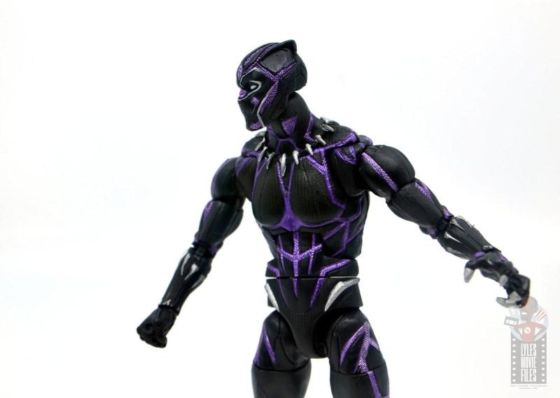 marvel legends black panther vibranium effect figure review - side detail