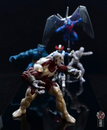 marvel legends build a figure caliban figure review - running from x-factor