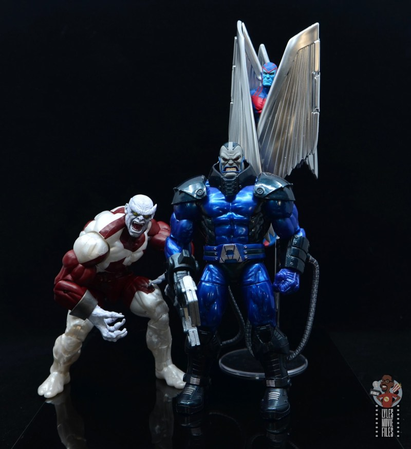 marvel legends build a figure caliban figure review - with apocalypse and archangel