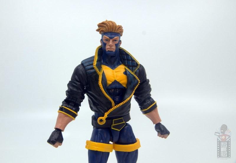 marvel legends havok and polaris figure review - havok close up