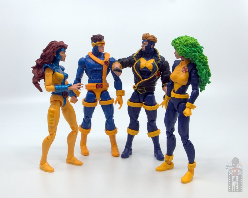 marvel legends havok and polaris figure review -with jean grey and cyclops