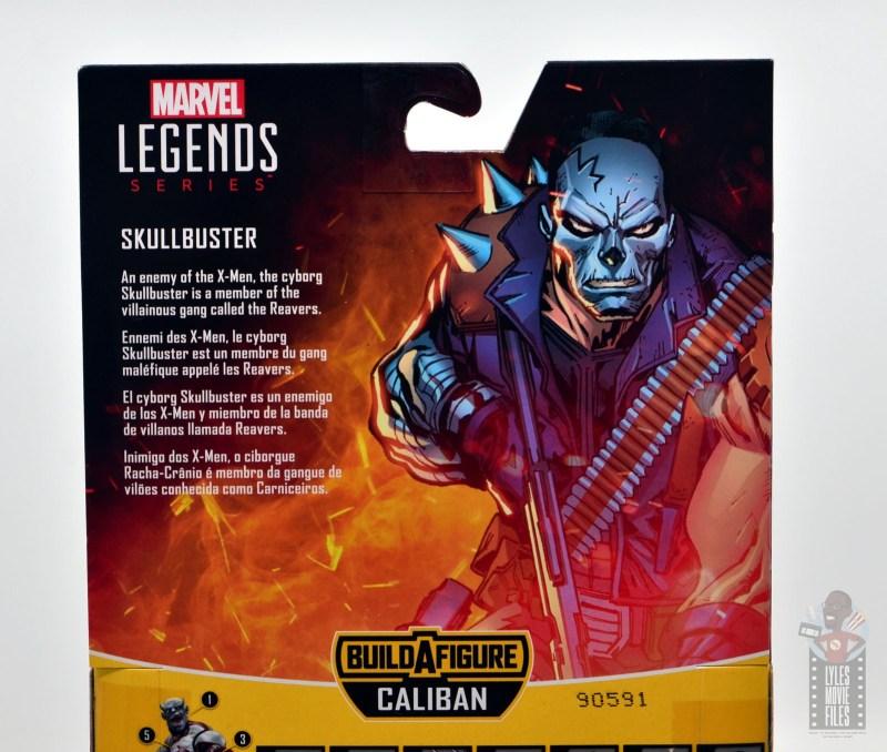 marvel legends skullbuster figure review - package bio
