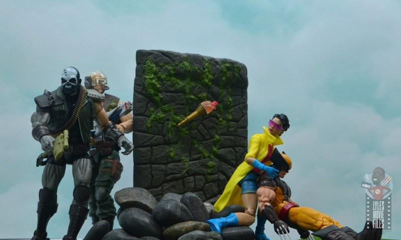 marvel legends skullbuster figure review - tracking wolverine and jubilee