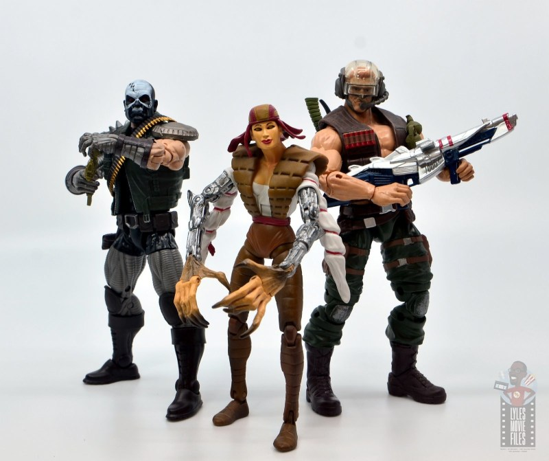 marvel legends skullbuster figure review - with lady deathstrikes and reese