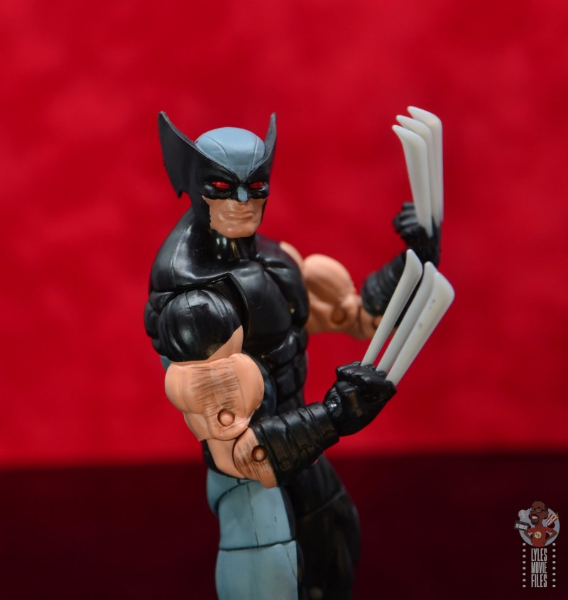marvel legends x-force wolverine figure review - curve of claws