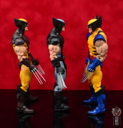 marvel legends x-force wolverine figure review - facing other wolverines