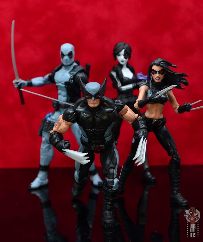 marvel legends x-force wolverine figure review - leading deadpool, domino and x-23