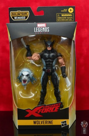 marvel legends x-force wolverine figure review - package front