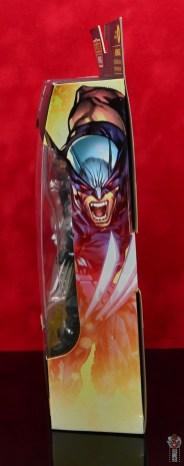 marvel legends x-force wolverine figure review - packge side
