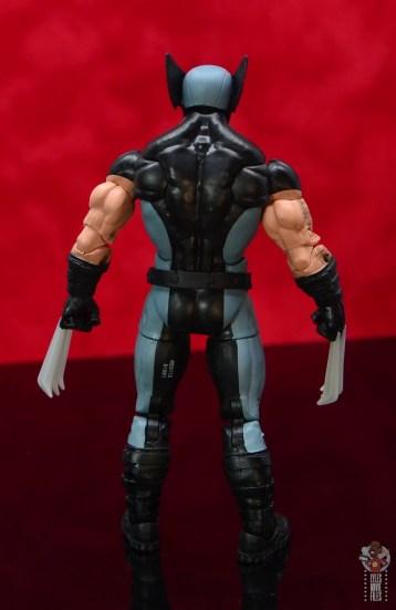 marvel legends x-force wolverine figure review - rear