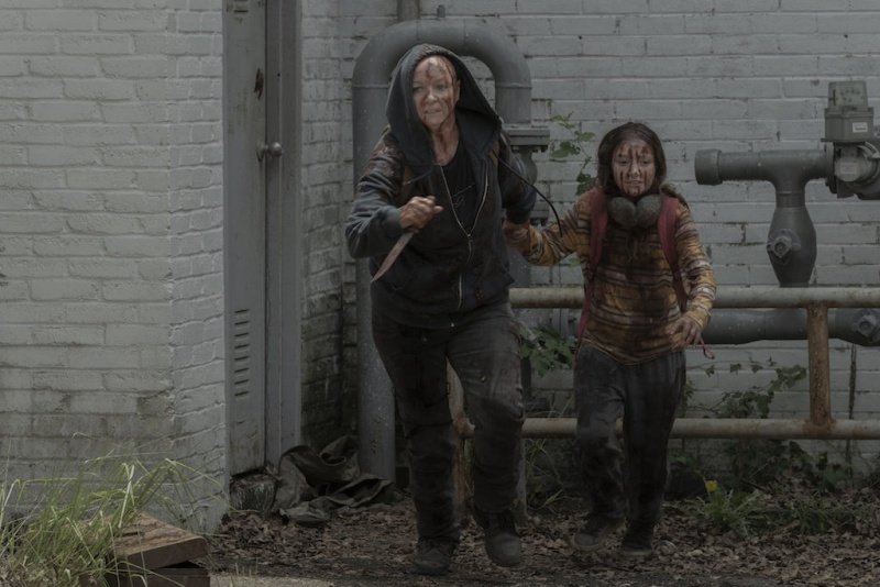 the walking dead we are the end of the world - alpha and young lydia