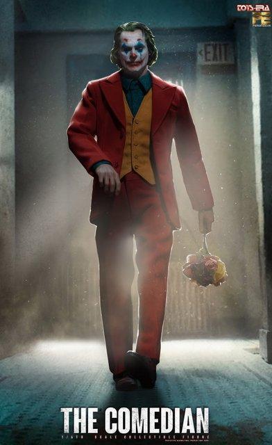 toy era the comedian joker figure - walking with flowers