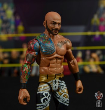 wwe elite 69 ricochet figure review - tattoo detail right