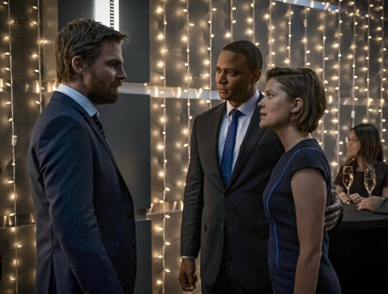 arrow reset review - oliver, diggle and lyla