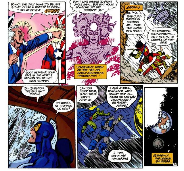 crisis on infinite earths #6 heroes fighting