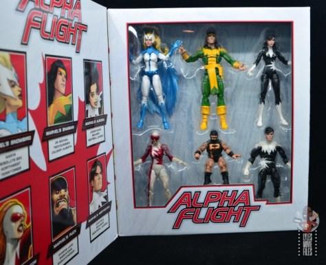 marvel legends alpha flight figure set review -package figures in tray