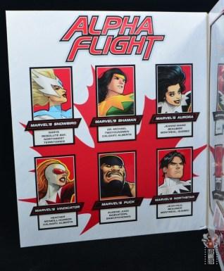 marvel legends alpha flight figure set review - package inner left side