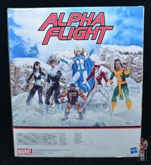 marvel legends alpha flight figure set review - package rear