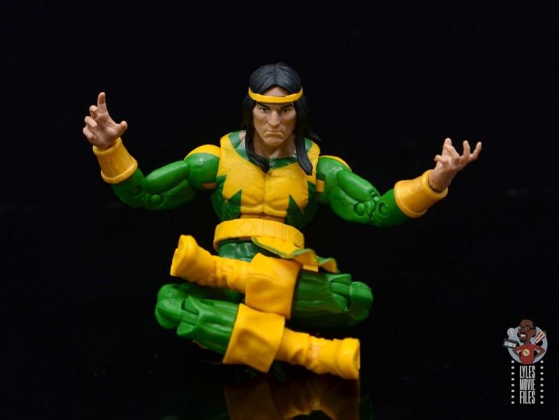 marvel legends alpha flight figure set review - shaman figure - sitting