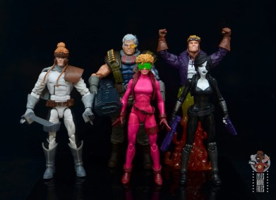 marvel legends boom-boom figure review - scale with x-force