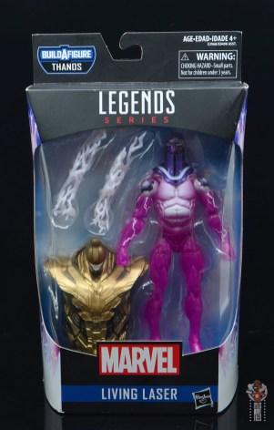 marvel legends living laser figure review - package front