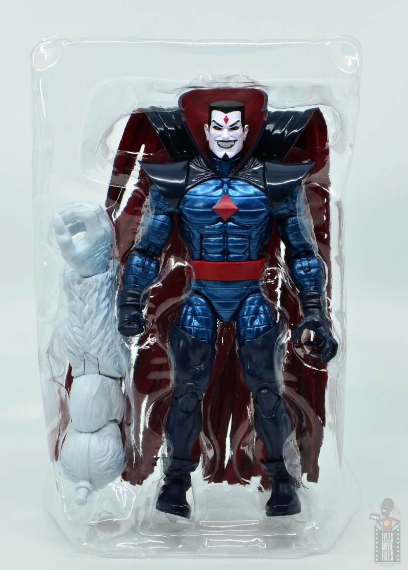 marvel legends mister sinister figure review - accessories in tray