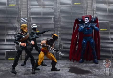marvel legends mister sinister figure review - battling longshot, havok and wolverine