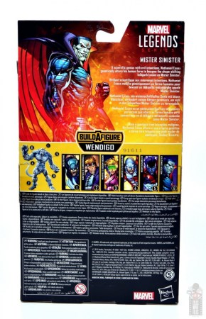 marvel legends mister sinister figure review - package rear